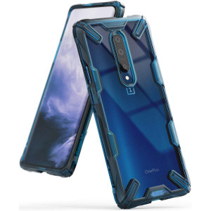 Keep your OnePlus 7 Pro 5G protected from bumps and drops with the Rearth Ringke Fusion X tough case in blue. Featuring a 2-part, Polycarbonate design, this case lives up to military drop test standards so you can rest assured that your device is safe