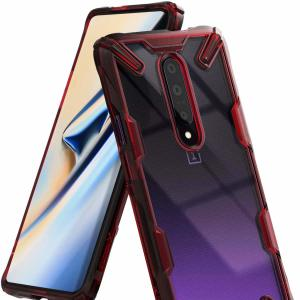 Keep your OnePlus 7 Pro 5G protected from bumps and drops with the Rearth Ringke Fusion X tough case in ruby red. Featuring a 2-part, Polycarbonate design, this case lives up to military drop test standards so you can rest assured that your device is safe