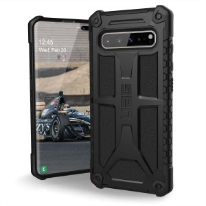 The Urban Armour Gear Monarch in Black for the Samsung Galaxy S10 5G is quite possibly the king of protective cases. With 5 layers of premium protection and the finest materials, your Galaxy S10 5G is safe, secure and in some style too.