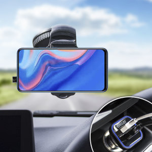 Essential items you need for your smartphone during a car journey all within the Olixar DriveTime In-Car Pack. Featuring a robust one-handed phone car mount and car charger with an additional USB port for your Huawei P Smart Z.