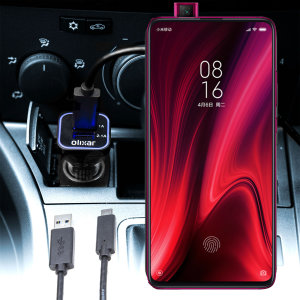 Keep your Xiaomi Redmi K20 Pro fully charged on the road with this compatible Olixar high power dual USB 3.1A Car Charger with an included high quality  1m USB to USB-C charging cable.