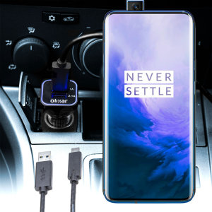 Keep your OnePlus 7 Pro 5G fully charged on the road with this compatible Olixar high power dual USB 3.1A Car Charger with an included high quality  1m USB to USB-C charging cable.