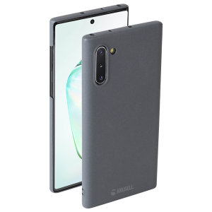 Krusell's Sandby Samsung Note 10 case in Stone colour combines Nordic chic with Krusell's values of sustainable manufacturing for the social-aware owner who seeks an elegant case. With a premium soft touch & bulk-free this case is perfect for everyday use