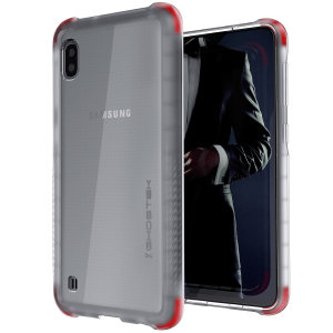 Custom moulded for the Samsung Galaxy A10, the Ghostek tough case in Clear colour provides a slim fitting, stylish design and reinforced corner protection against shock damage, keeping your Samsung Galaxy A10 looking great at all times.