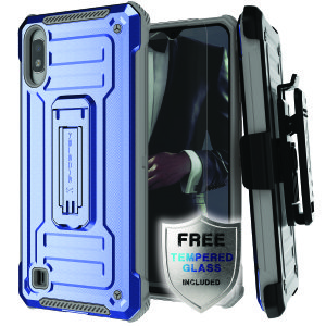 The Samsung Galaxy A10 Iron Armor 2 case in Blue/Gray from Ghostek provides your Samsung Galaxy A10 with fantastic all-around protection.