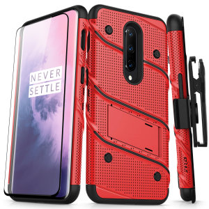 Equip your OnePlus 7 Pro 5G with military grade protection and superb functionality with the ultra-rugged Bolt case in red and black from Zizo. Coming complete with a handy belt clip and integrated kickstand.