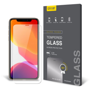 This ultra-thin tempered glass screen protector for the iPhone 11 Pro Max from Olixar offers toughness, high visibility and sensitivity all in one package. This screen protector has been specially designed to be compatible with a wide range of cases.