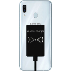 Enable wireless charging for your Samsung Galaxy A30 without having to modify your phone or use a specialist case with this Ultra Thin Qi Wireless Charging Adapter.