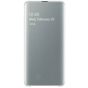 This Official Samsung Clear View Cover in white is the perfect way to keep your Galaxy S10 5G smartphone protected whilst keeping yourself updated with your notifications thanks to the clear view front cover.