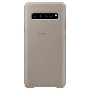 This Official Samsung Genuine Leather Cover Case in Grey is the perfect way to keep your Galaxy S10 5G smartphone protected.