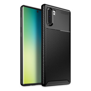 Olixar Carbon Fibre case is a perfect choice for those who need both the looks and protection! A flexible TPU material is paired with an eye-catching carbon print to make sure your Samsung Galaxy Note 10 is well-protected and looks good in any setting.