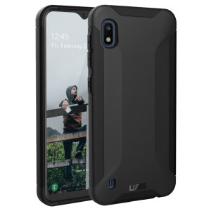 Urban Armour Gear for the Samsung Galaxy A10 features a protective TPU case in black with a UAG logo insert for an amazing design.