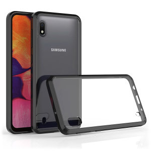 Custom moulded for the Samsung Galaxy A10e. This black Olixar ExoShield tough case provides a slim fitting stylish design and reinforced corner shock protection against damage, keeping your device looking great at all times.