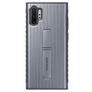 This Official Samsung Protective cover in silver is the perfect accessory for your Galaxy Note 10 Plus smartphone. Incredibly lightweight and sleek this case ensures you're ready for any occasion. Fitted with a kickstand to ease the viewing ability.