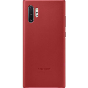 This Official Samsung Leather Cover in Red is the perfect way to keep your Galaxy Note 10 Plus smartphone protected whilst keeping a stylish look. Incredibly lightweight and sleek this case ensures you're ready for any occasion.