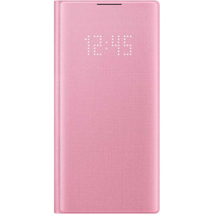 Protect your Samsung Galaxy Note 10 screen from harm and keep up to date with your notifications through the intuitive LED display with the official Pink LED cover from Samsung.