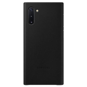 Official Samsung Galaxy Note 10 Leather Cover Case - Black