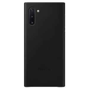 La coque officielle Samsung Leather Cover en coloris noir est le moyen idéal de protéger votre Samsung Galaxy Note 10 tout en conservant son apparence élégante. Fabriquée sur mesure et dotée d'une superbe finition en cuir véritable, elle ajoute du style et une protection optimale à votre smartphone.