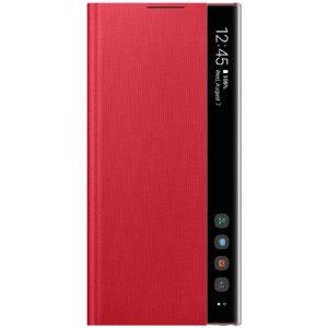 Offisiell Samsung Galaxy Note 10 Clear View Deksel - Rød
