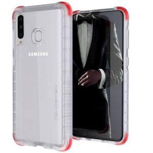 Custom moulded for the Samsung Galaxy A30, the Ghostek tough case in Clear colour provides a slim fitting, stylish design and reinforced corner protection against shock damage, keeping your Samsung Galaxy A30 looking great at all times.
