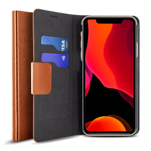 The Olixar leather-style iPhone 11 Pro Wallet Case in brown attaches to the back of your phone to provide enclosed protection and can also be used to hold your credit cards. So leave your regular wallet at home when you need to travel light.