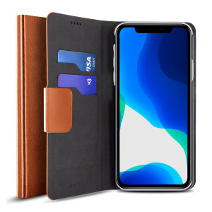 The Olixar leather-style iPhone 11 Wallet Case in brown attaches to the back of your phone to provide enclosed protection and can also be used to hold your credit cards. So leave your regular wallet at home when you need to travel light.