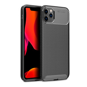 Olixar Carbon Fibre iPhone 11 Pro Case - Zwart