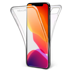 At last, an iPhone 11 Pro Max case that offers complete all around front, back and sides protection and still allows full use of the phone. The Olixar FlexiCover in crystal clear is the most functional and protective gel case yet.