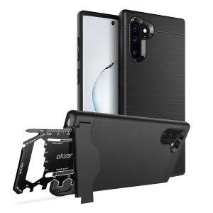 Préparez votre Samsung Galaxy Note 10 à l'aventure avec la coque Olixar X-Ranger ultra-robuste en coloris noir tactique. Dotée d'un support béquille très pratique, d'un compartiment sécurisé pour l'outil multifonction inclus (ou votre carte bancaire), vous êtes désormais prêt à tout.