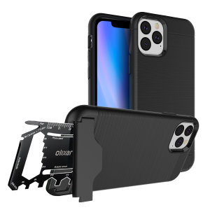Prepare your iPhone 11 Pro for the great outdoors with the rugged X-Ranger case. With a handy kickstand and a secure compartment for the included multi-tool - or the card of your choice - you'll be ready for anything.