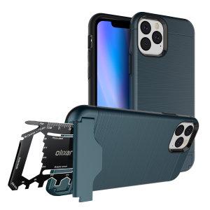 Mantenga perfectamente protegido el iPhone 11 Pro en cualquier situación. Esta funda X-Ranger de Olixar además ofrece función de soporte multimedia. También incluye tarjeta multi-herramienta.