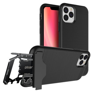 Prepare your iPhone 11 Pro Max for the great outdoors with the rugged X-Ranger case. With a handy kickstand and a secure compartment for the included multi-tool - or the card of your choice - you'll be ready for anything.