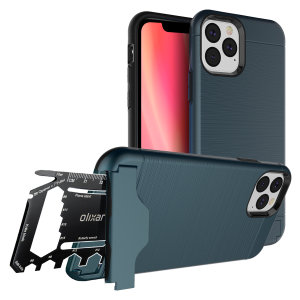 Prepare your iPhone 11 Pro Max for the great outdoors with the rugged X-Ranger case in blue. With a handy kickstand and a secure compartment for the included multi-tool - or the card of your choice - you'll be ready for anything.