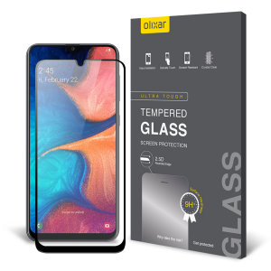 This ultra-thin tempered glass screen protector for the Samsung Galaxy A20 from Olixar offers toughness, high visibility and sensitivity all in one package.
