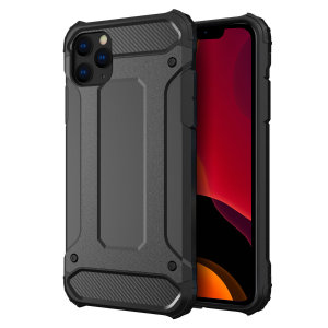 Protect your iPhone 11 Pro from bumps and scrapes with this black Delta Armour case from Olixar. Comprised of an inner TPU section and an outer impact-resistant exoskeleton.