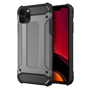 Protect your iPhone 11 Pro from bumps and scrapes with this gunmetal Delta Armour case from Olixar. Comprised of an inner TPU section and an outer impact-resistant exoskeleton.