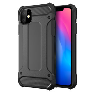 Protect your iPhone 11 from bumps and scrapes with this black Delta Armour case from Olixar. Comprised of an inner TPU section and an outer impact-resistant exoskeleton.