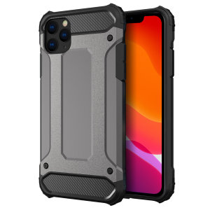 Protect your iPhone 11 Pro Max from bumps and scrapes with this gunmetal Delta Armour case from Olixar. Comprised of an inner TPU section and an outer impact-resistant exoskeleton.
