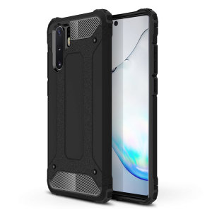 Protect your Samsung Note 10 Plus from bumps and scrapes with this black Delta Armour case from Olixar. Comprised of an inner TPU section and an outer impact-resistant exoskeleton.