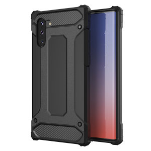 Protect your Samsung Note 10 from bumps and scrapes with this black Delta Armour case from Olixar. Comprised of an inner TPU section and an outer impact-resistant exoskeleton.