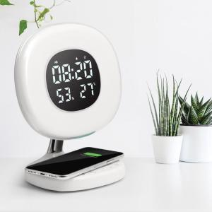 AuraRise light provides a pleasant, natural way to start your morning. Featuring a colored sunrise simulation and personalized light settings the light gradually increases between 15 minutes prior to your alarm time.