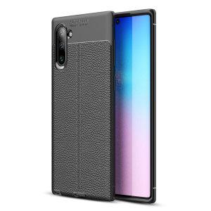 Jos kaipaat ammattimaista ja minimalistista tyyliä, valitse Olixarin Attache Samsung Galaxy Note 10 -kotelo. Joustava ja kestävä suoja tarjoaa laitteellesi siistin, nahkaa muistuttavan viimeistelyn