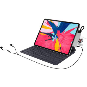 Through the use of a single USB-C on your device, this HyperDrive hub will add 6 more connectors to your PC or Macbook, which includes HDMI, USB-A Power delivery, Micro SD, SD, 3.5mm Audio Jack and more.