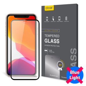 This tempered glass screen protector for the iPhone 11 Pro Max from Olixar has complete edge to edge screen protection, toughness, high visibility and sensitivity all in one package, with the added bonus of limiting potentially harmful blue light rays.