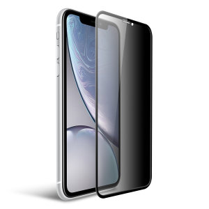 This tempered glass screen protector for the iPhone XR from Olixar has complete edge to edge screen protection, toughness, high visibility and sensitivity all in one package, with the added bonus of a privacy filter.