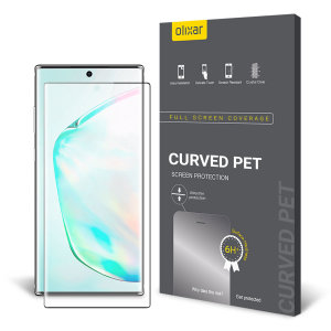 Keep your Samsung Galaxy Note 10 Plus' in pristine condition with this Olixar curved PET scratch- resistant screen protector