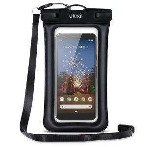 The Olixar Action Universal Waterproof Case for the Google Pixel 3a is a protective case providing 100% waterproofing and touchscreen operation for your iPhone for activities that require near water or even underwater adventures.