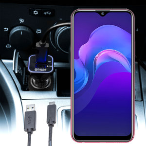 Keep your Vivo Y12 fully charged on the road with this compatible Olixar high power dual USB 3.1A Car Charger with an included high quality USB to Micro-USB charging cable.