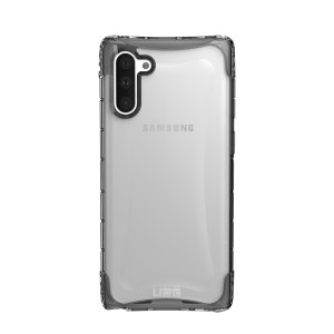 The Urban Armour Gear Plyo semi-transparent tough case in Ice for the Samsung Galaxy Note 10 features reinforced Air-Soft corners and an optimised honeycomb structure for superior drop and shock protection.
