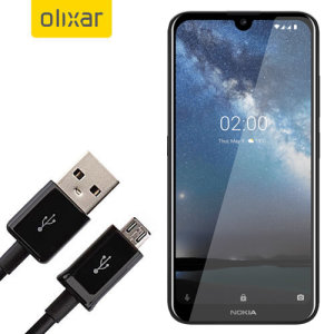 This 1 meter data / charging cable from Olixar allows you to connect your Nokia 2.2 to a PC via Micro USB. It supports charging currents over 2 amps, so your Vivo Y12 can be up and running from flat in no time.